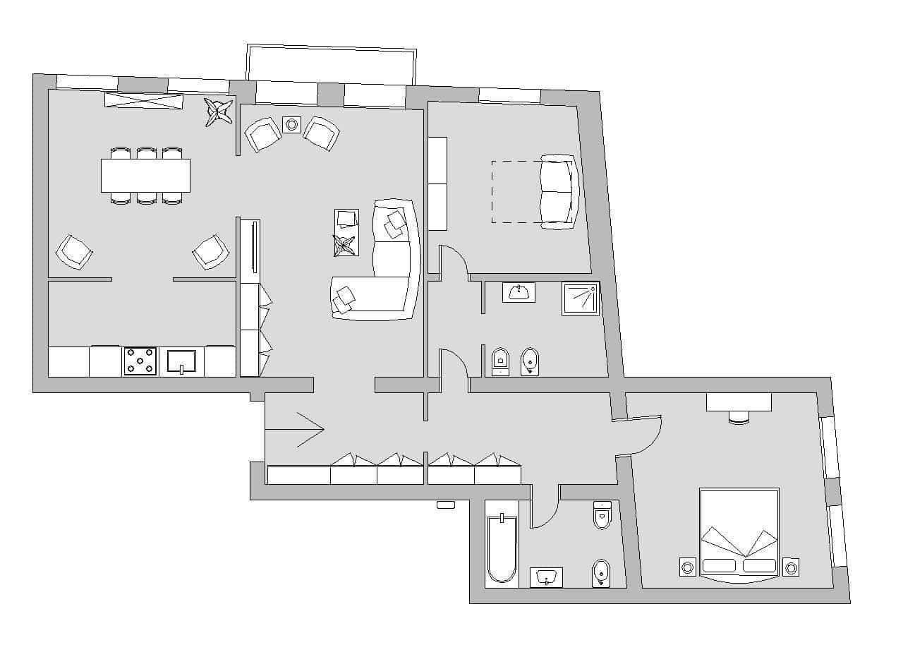 Ca' del Monastero 1 - Floor Plan