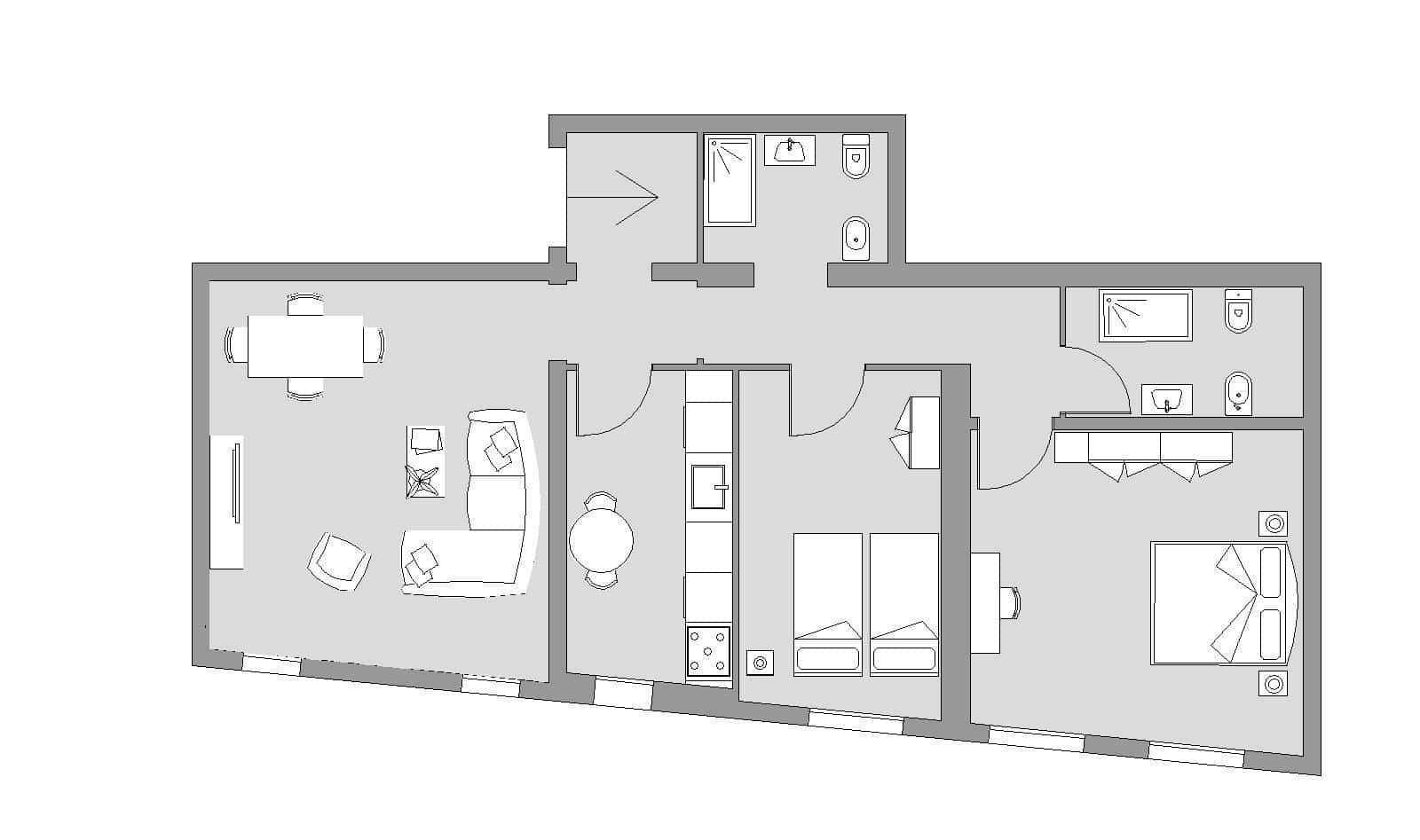 Ca' del Monastero 2 - Floor Plan