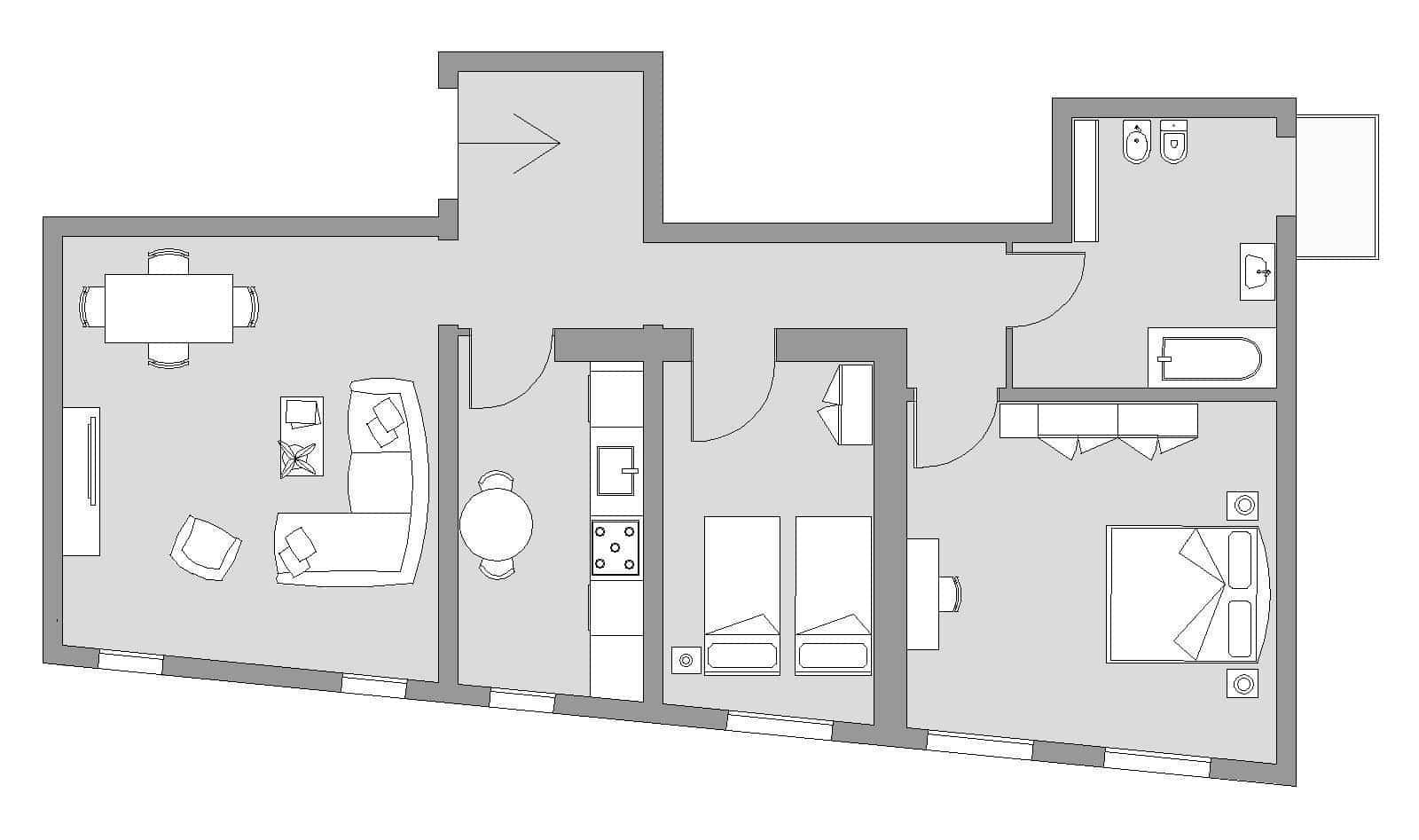 Ca' del Monastero 3 - Floor Plan