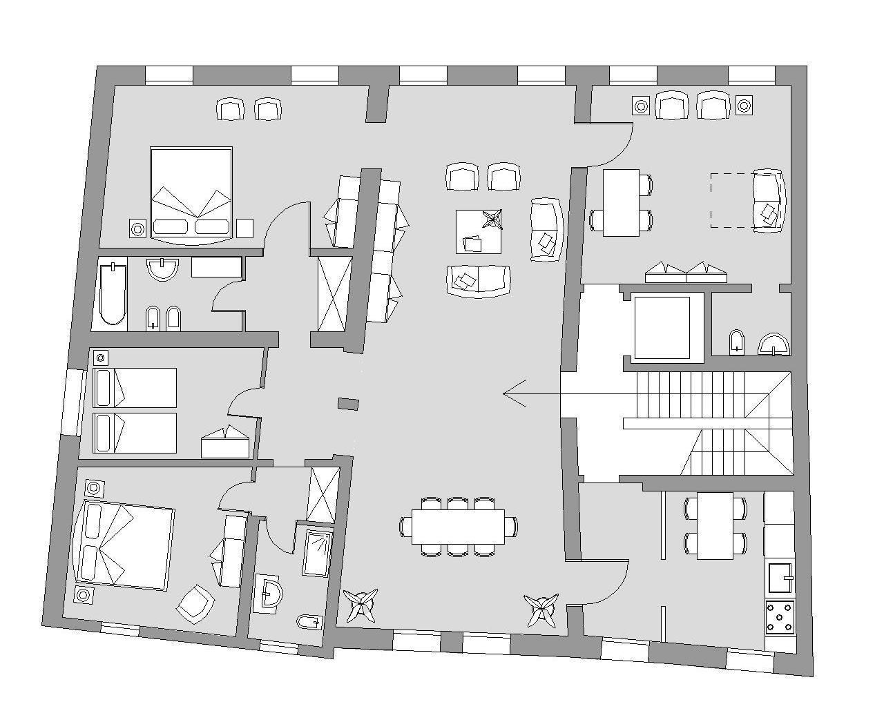 Ca' del Monastero 4 - Floor Plan