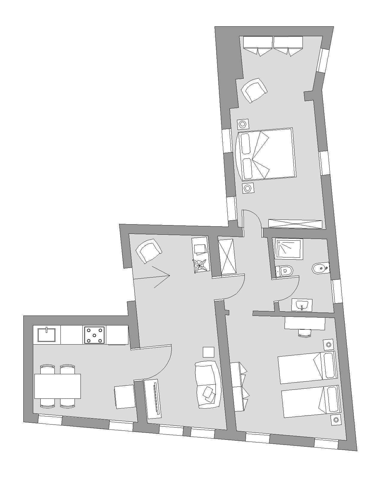 Ca' del Monastero 5 - Floor Plan