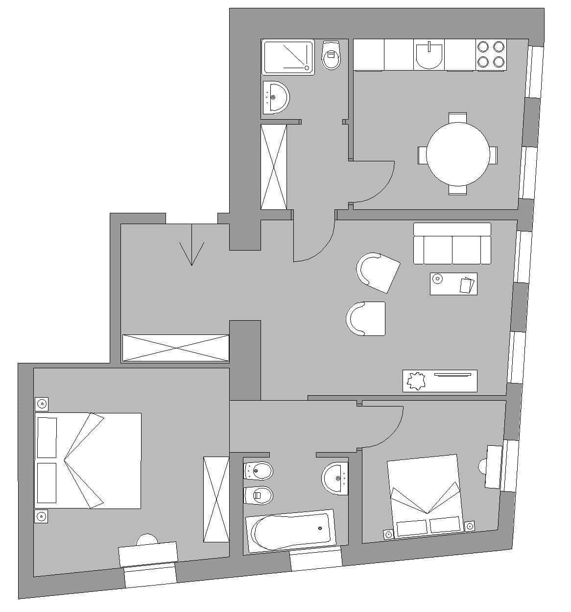 Ca' del Monastero 6 - Floor Plan